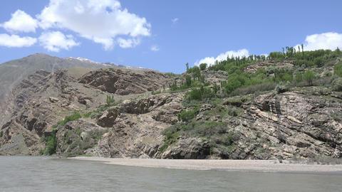 Mountain Range, Pamir Mountains, Tajikistan Footage