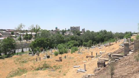 Cemetery, Samarkand, Uzbekistan Footage