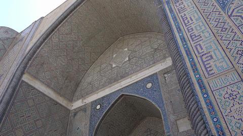 Bibi Khanym Mosque, Samarkand, Uzbekistan Footage