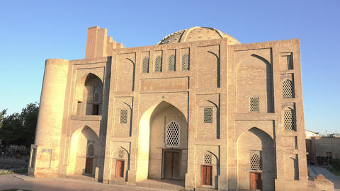 Nadir Divan Beghi Khanaka, Bukhara, Uzbekistan Footage