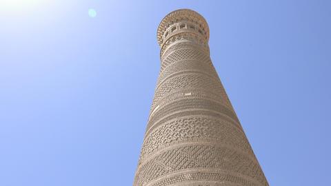 Kalyan Minaret, Bukhara, Uzbekistan Footage