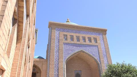 Pakhlavan Makhmud Mausoleum, Itchan Kala, Khiva, Uzbekistan Footage