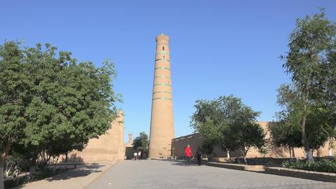 Djuma Mosque, Itchan Kala, Khiva, Uzbekistan Footage