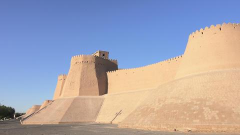 Itchan Kala, Khiva, Uzbekistan Footage