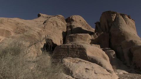 Royal Tombs at Ancient Nabatean City of Petra, Wadi Musa,Ma'an Governorate, Jord Footage