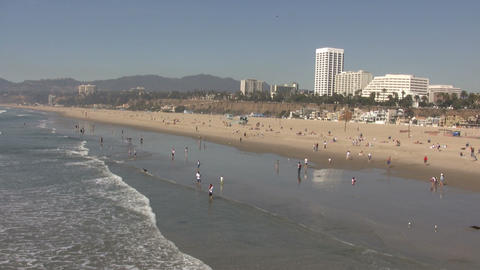 Santa Monica State Beach Footage