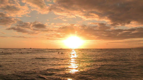 Tourists Surfing in Pacific Ocean, Waikiki ライブ動画