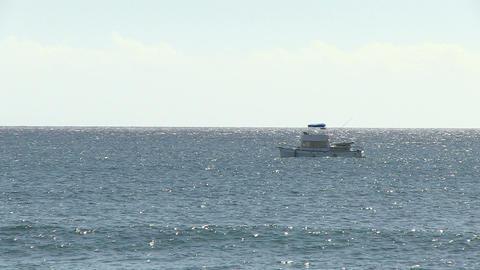 Boat Moving in Ocean, Ala Moana Footage