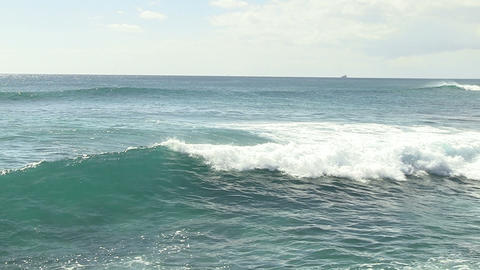 Waves in Pacific Ocean, Ala Moana Footage