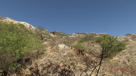 Hikers of Mountain, Diamond Head Footage