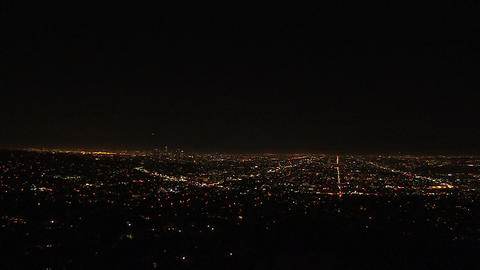 Aerial View of Illuminated City Footage