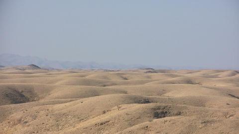 Sand Dunes in Namib Desert Footage