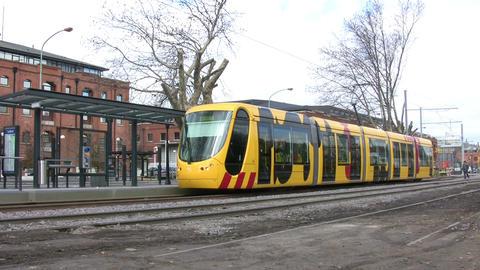 Tram at Platform Footage