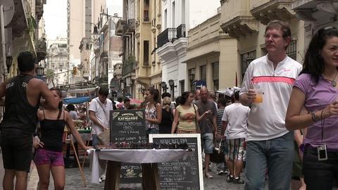 People Walking on Street Footage