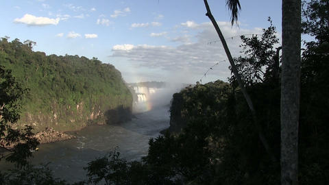 Water Falling Into a River, Iguazu Falls Footage