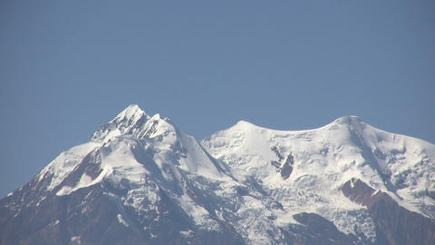 View of Snowcapped Mountain Footage