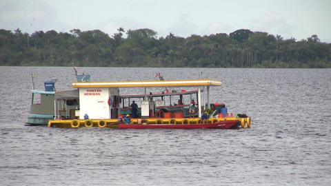 Petrol Station In Amazon River Live Action
