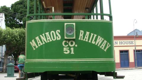 Tram on Railway Track Footage
