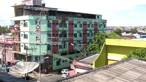 High angle View of Hotel Live Action
