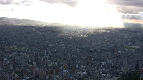 Bogota cityscape viewed from Monserrate Footage