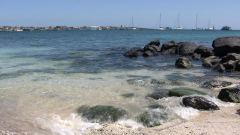 Rock Formations on The Coast, San Cristobal Island ビデオ