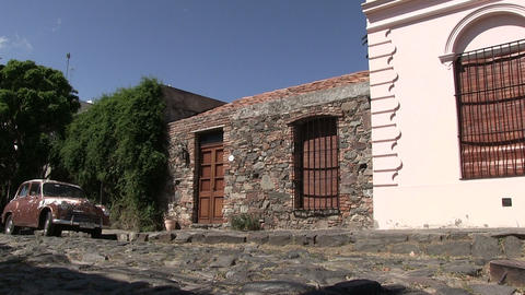 View of houses, Colonia del Sacramento Footage