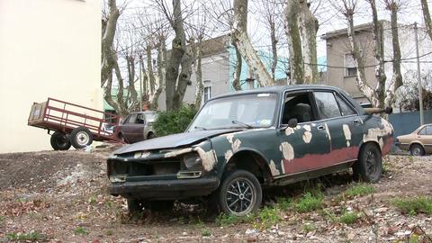 Abandoned car, Colonia del Sacramento Footage
