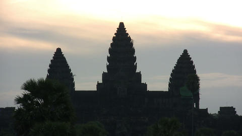 Angkor Wat Temple at Sunrise Footage