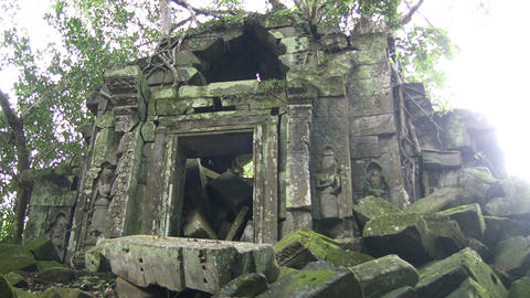 Ruins at Beng Mealea Temple Footage