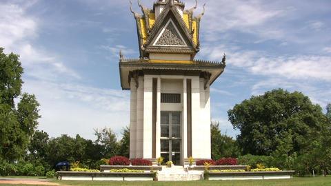 Commemorative stupa at Killing Fields Footage