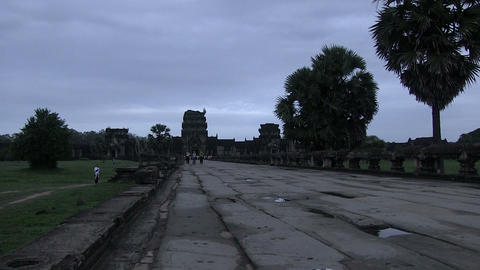People at Angkor Wat Temple Footage