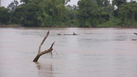 Mekong River, Don Det, Laos Footage