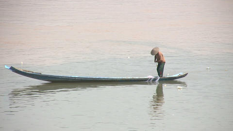 Mekong River, Luang Prabang, Laos Footage