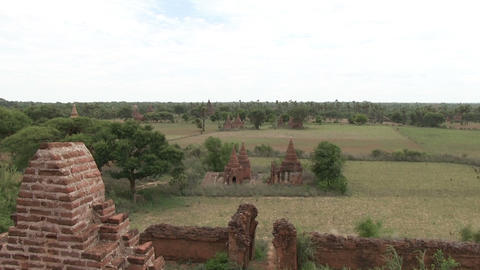 Buddhist temples in the Bagan archeological zone Footage