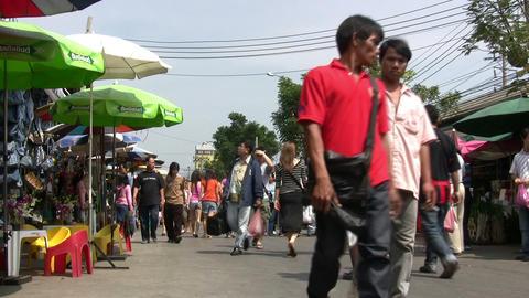 Street market, Bangkok, Thailand Footage