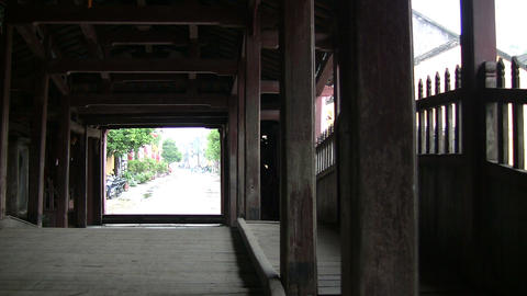 Japanese Covered Bridge Footage