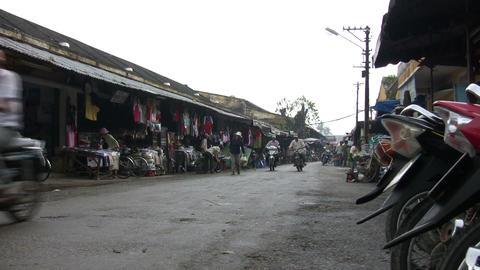 People Walking In Street Market Footage