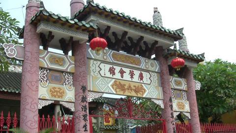 Chinese Lantern Hanging On Gate Live Action