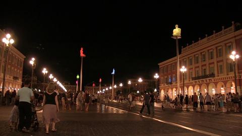 People Walking on Street, Nice ビデオ
