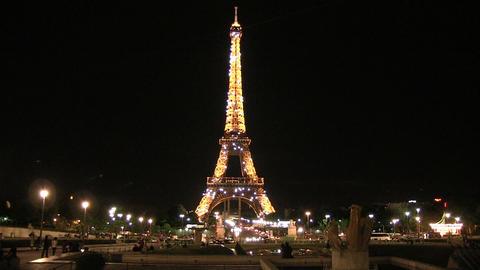 Eiffel Tower at Night Footage