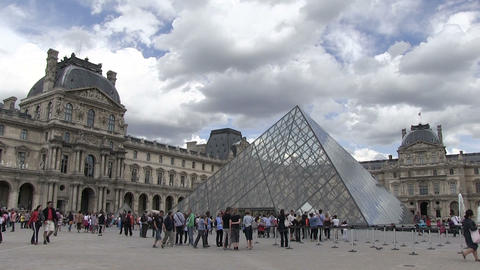 Tourists at Louvre Museum Live Action