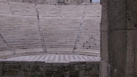 Odeon of Herodes Atticus, Athens, Greece Footage
