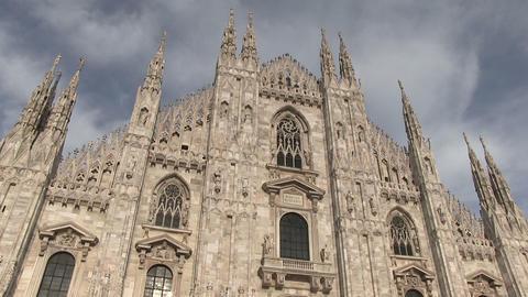 Milan Cathedral (Duomo di Milano), Milan, Italy Footage