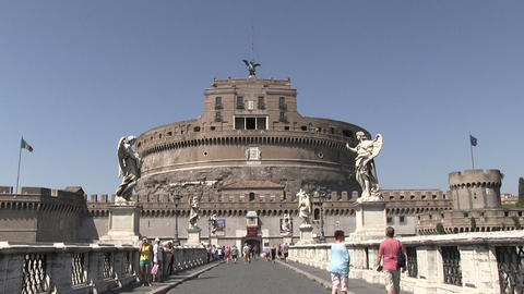 Castel Sant'Angelo, Rome, Italy Footage