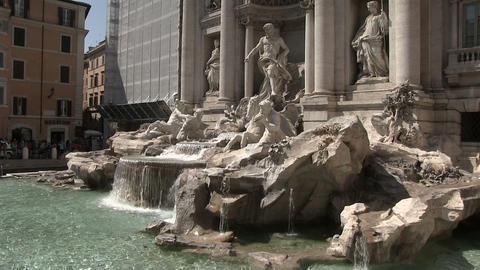 Trevi Fountain, Rome, Italy Footage