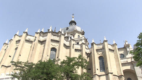 Low Angle View Of Almudena Cathedral Footage