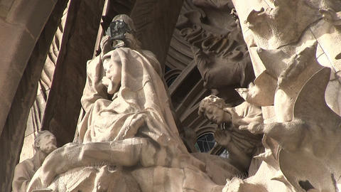 Close-Up Of Statues at a Cathedral Footage