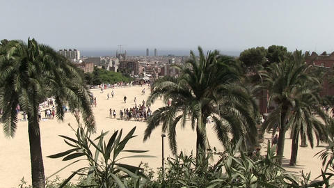 Tourists At Park Guell ビデオ