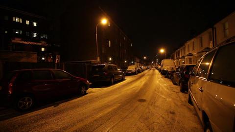Vehicles Parked at Roadside, Hammersmith, London, United Kingdom Live Action