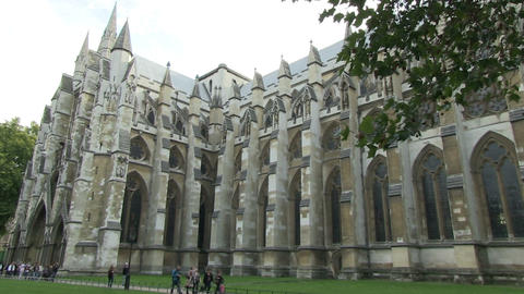 People at Westminster Abbey Footage